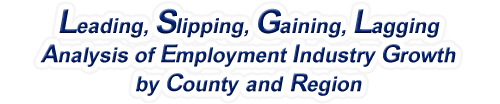 North Carolina - LSGL Analysis of Employment Industry Growth by Selected Region, 1969-2015